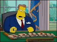 Quel président des Etats-Unis prend la grave décision d'isoler la ville de Springfield sous un dôme ?