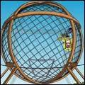 Que gagne Homer en participant à un concours de foire consistant à faire des tours complets de moto dans une sphère métallique ?