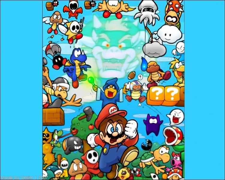 Quel est l'ennemi de Mario qui crache des boules de feu ?