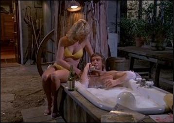 Qui prend un bain confortablement installé (dans le générique de la série) ?