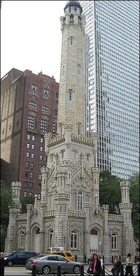 Qu'est-ce qui est faux sur la «Chicago Water Tower» ?