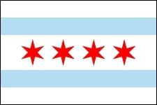 Les étoiles rouges sur le drapeau de la ville de Chicago représentent des moments historiques importants pour la ville. Lequel est faux ?
