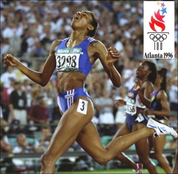 Dans quelles épreuves d'athlétisme, la   gazelle   Marie-José Pérec réussie-t-elle un mémorable doublé aux jeux d'Atlanta de 1996 ?
