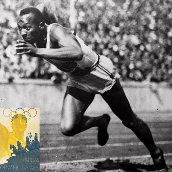 Quel est cet athlète, vainqueur de 4 médailles d'or ( 100m, 200 m, 4x 100m et saut en longueur ) aux jeux Olympiques de Berlin en 1936 ?