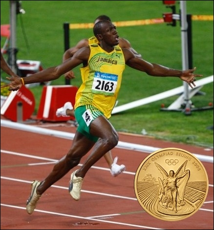 Quel est cet athlète jamaïcain, triple champion olympique à Pékin et surnommé   l'éclair   ?