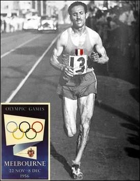 Dans quelle discipline d'athlétisme, le champion français Alain Mimoun est-il médaillé d'or en 1956 à Melbourne ?