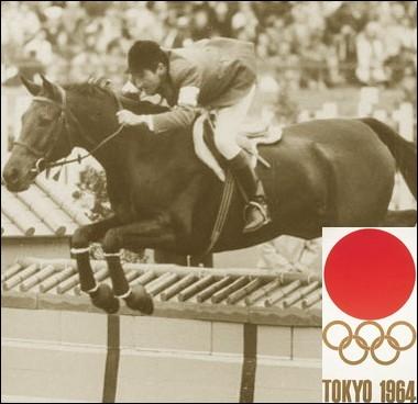 Lors des jeux de Tokyo en 1964, avec quelle monture Pierre Jonquières d'Oriola remporte-t-il la finale du saut d'obstacles en équitation ?