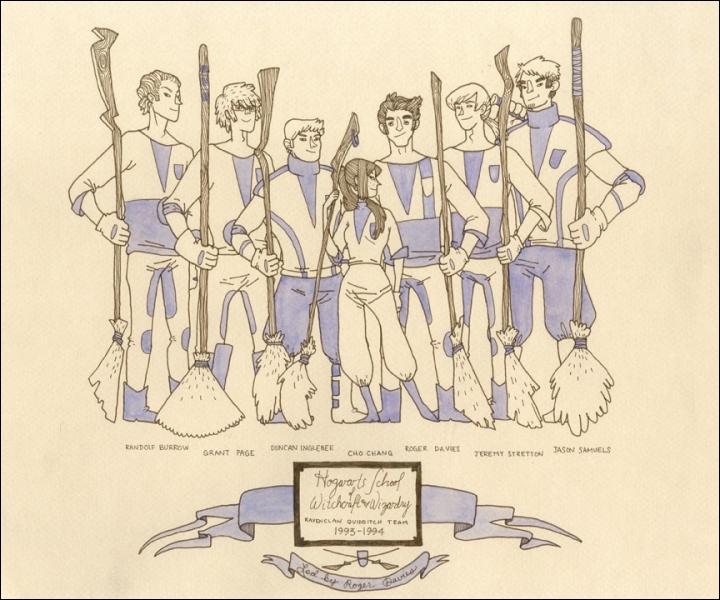 Qui est l'attrapeur de l'équipe de Quidditch de Serdaigle ?