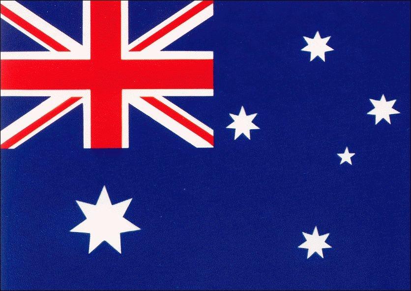 Voici mon drapeau ! Je me situe en Océanie, je compte 22 607 571 habitants et ma capitale est Canberra, qui suis-je ?