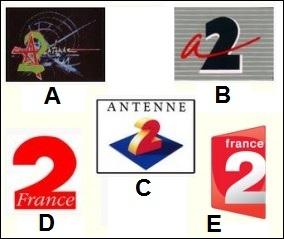 Reclassez les logos de France 2 dans l'ordre chronologique.