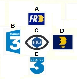 Reclassez les logos de France 3 dans l'ordre chronologique.
