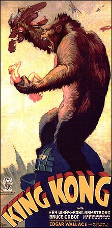 Quelle est l'année où le film  King Kong  a-t-il fait sa première apparition, au cinéma ?