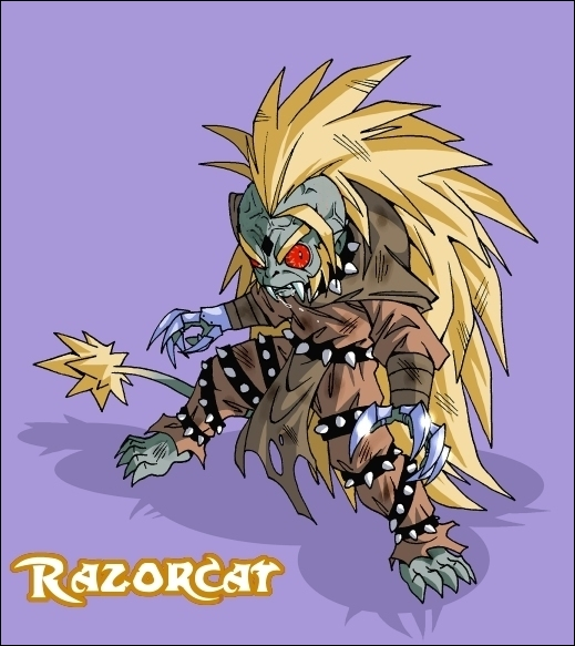 Pourquoi le kastey de Razorcat est-il noir ?