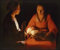 """Louis XIII bien que n'étant pas mécène, favorise les arts et en particulier la peinture. Qui est l'auteur du tableau intitulé """"Le nouveau-né"""" ?"""