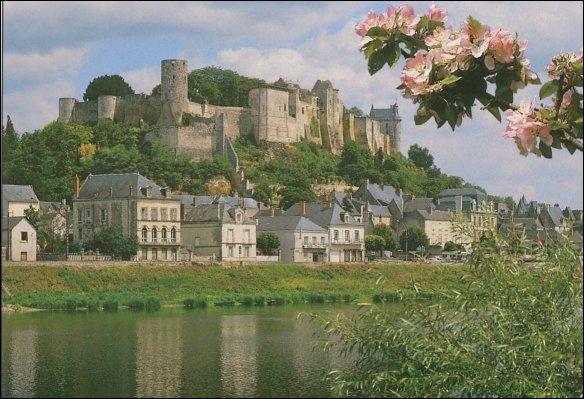 Sa forteresse royale fut construite sur un éperon rocheux dominant la Vienne :