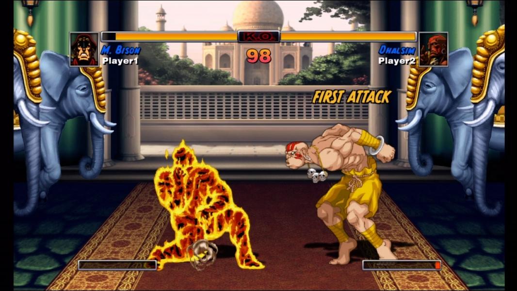 Dans quel jeu vidéo peut-on organiser un combat entre Dhalsim et Bison ?
