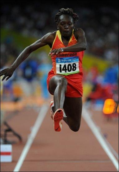 Quelle est cette discipline de saut dont la championne olympique en titre est Françoise Mbango ?