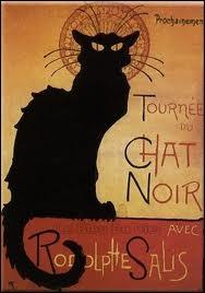 Qui a créé l'affiche du cabaret Le chat noir ?
