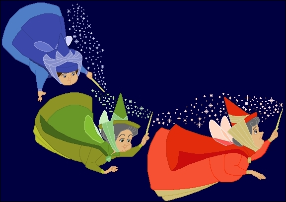 Comment s'appelle les trois fées dans  La belle au bois dormant  ?