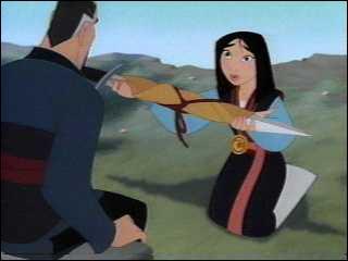 Que propose la grand-mère de Mulan à Shang?