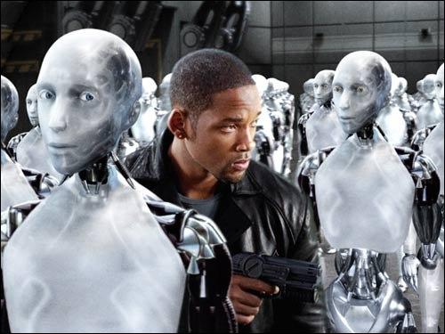 (2004) Will Smith fait partie en 2035 d'une société dans laquelle des robots androïdes intelligents sont au service de l'Homme.