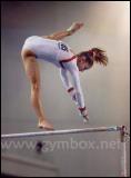 Que fait la gymnaste sur la photo ?
