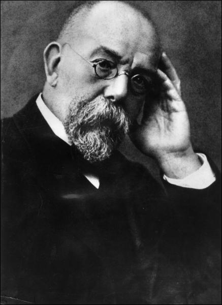 En 1882, un médecin allemand découvre une nouvelle bactérie en forme de bâtonnet, appelée bacille, qui est responsable de la tuberculose. Ce médecin donnera son nom à cette bactérie.