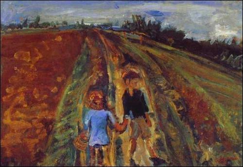 Est-ce Munch qui a peint Deux enfants sur la route ?
