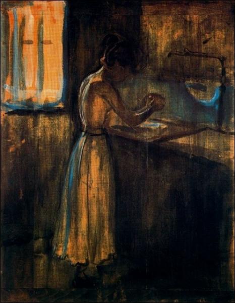 Est-ce Munch qui a peint Femme se lavant ?
