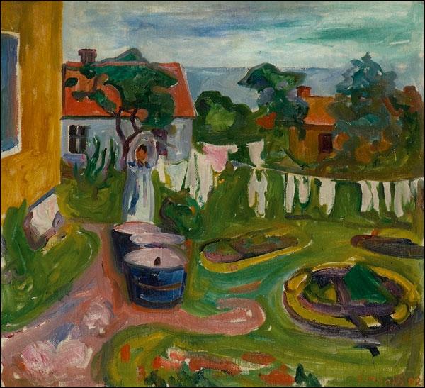 Est-ce Munch qui a peint Vêtement étendus ?