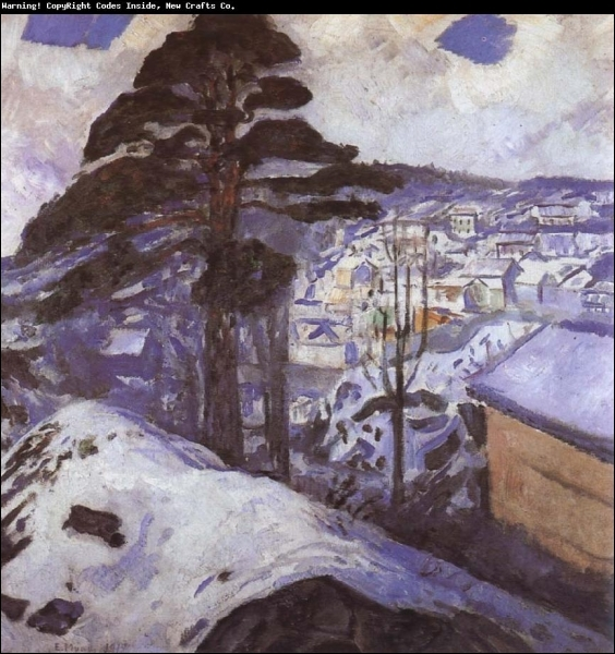 Est-ce Munch qui a peint L'hiver ?