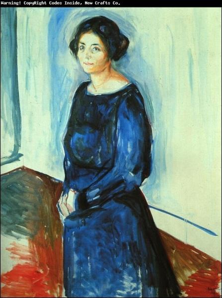 Est-ce Munch qui a peint Femme en bleu ?