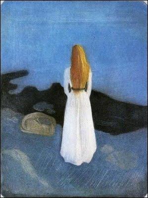 Est-ce Munch qui a peint Fille sur la plage ?
