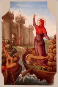 Quelle héroïne, devenue la sainte patronne de la ville de Paris, a soutenu Clovis avec ferveur et l'a incité à bâtir de nombreuses églises dans sa ville ?
