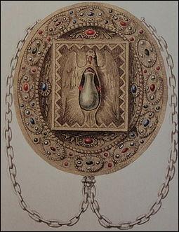 Quel récipient, ayant servi à ce baptême, deviendra un objet symbolique lors de la cérémonie du sacre des futurs rois de France ?