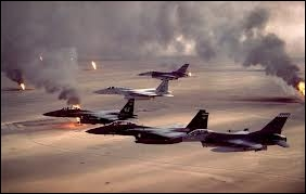 En quelle année éclate la guerre du Golfe connue sous le nom de « Desert Storm » pour libérer le Koweït de son occupation par les irakiens ?