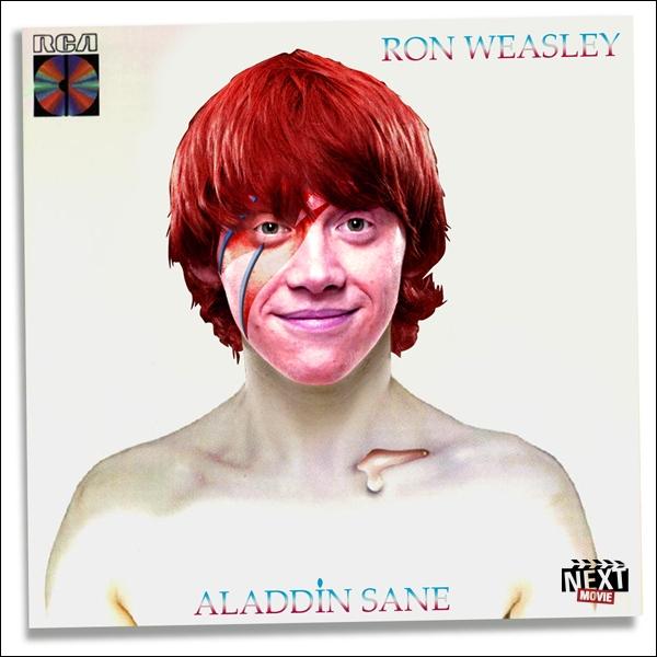 Ron Weasley a pris place sur la pochette de  Aladdin Sane , mais qui est le chanteur original ?
