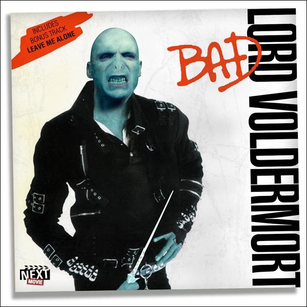 Lord Voldemort s'est emparé de la pochette du célèbre chanteur de  Bad , quel est ce chanteur ?