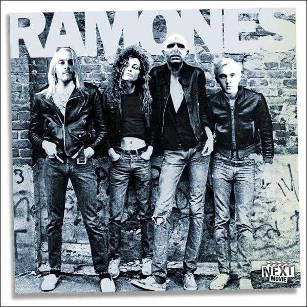 Qui est à la droite de Lord Voldemort sur la pochette des  Ramones  ?