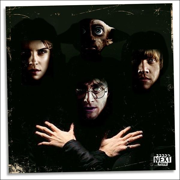 Quel groupe, ici remplacé par Harry, Ron, Hermione et Dobby, peut-on voir sur la pochette d'origine ?