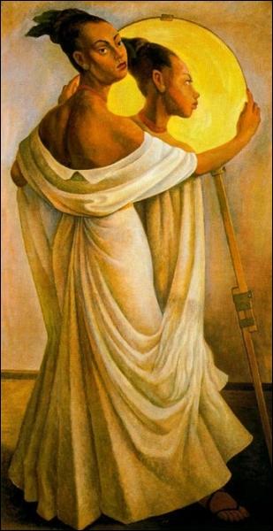 Qui a peint Ruth et son reflet ?