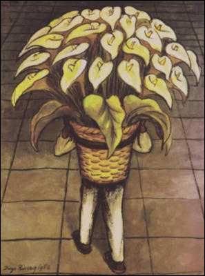 Qui a peint Homme portant des fleurs ?