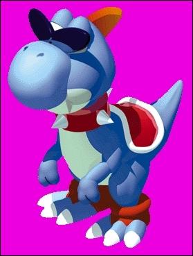 Qui est ce personnage bleu qui ressemble étrangement à Yoshi ?
