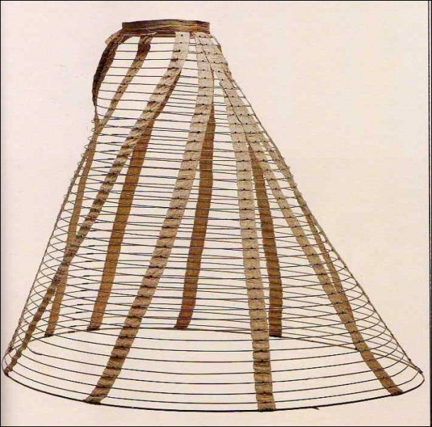 Comment appelle-t-on l'armature qui soutient les robes et les rend vaporeuses au XIXème siècle ?