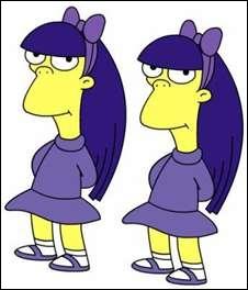 Quel est le nom des deux jumelles de l'école élémentaire de Springfield ?
