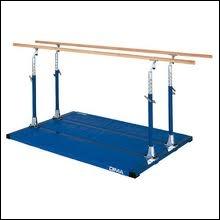 Les barres parallèles sont un agrès de gymnastique artistique...