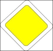 Que signifie ce panneau jaune ?