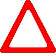 Que signifient les panneaux triangulaires à bord rouge ?