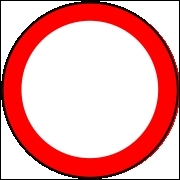 Que signifient les panneaux ronds à bord rouge ?