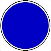 Que signifient les panneaux ronds à fond bleu ?